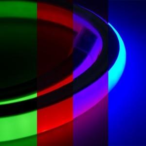 Гибкий Неон LED 4W RGB (смена цвета) 16х27мм 240LED/12Вт/м, IP54, бухта 30м