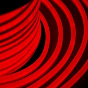 Гибкий Неон LED красный 12х26мм 80LED/3,9Вт/м, IP54 оболочка красная, бухта 50м