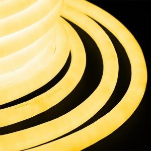 Гибкий Неон LED 360° желтый, круглый D19мм 96LED/3,6Вт/м, IP54 бухта 50м