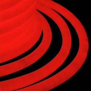 Гибкий Неон LED 360° красный, круглый D19мм 96LED/3,6Вт/м, IP54 бухта 50м
