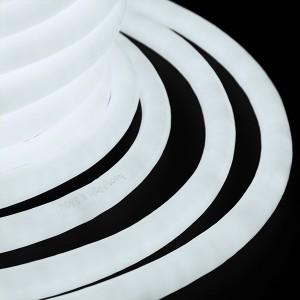 Гибкий Неон LED 360° белый, круглый D19мм 96LED/3,6Вт/м, IP54 бухта 50м