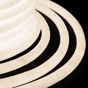 Гибкий Неон LED 360° теплый белый, круглый D19мм 96LED/3,6Вт/м, IP54 бухта 50м