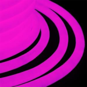 Гибкий Неон LED 360° розовый, круглый D19мм 96LED/3,6Вт/м, IP54 бухта 50м