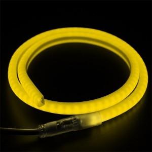 Гибкий Неон LED SMD жёлтый D-форма 12х12мм, 120LED/9Вт/м, IP65 бухта 100м