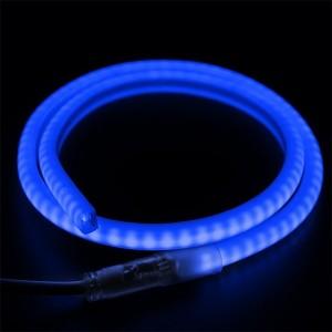 Гибкий Неон LED SMD синий D-форма 12х12мм, 120LED/9Вт/м, IP65 бухта 100м