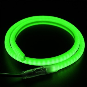Гибкий Неон LED SMD зеленый D-форма 12х12мм, 120LED/9Вт/м, IP65 бухта 100м