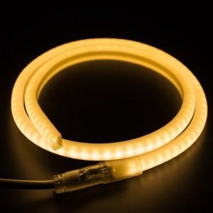 Гибкий Неон LED SMD теплый белый D-форма 12х12мм, 120LED/9Вт/м, IP65 бухта 100м