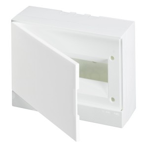 ABB Basic E Бокс настенный 12М белая непрозрачная дверь (с клеммами) BEW401212