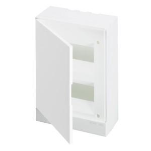ABB Basic E Бокс настенный 16М белая непрозрачная дверь (с клеммами) BEW401216