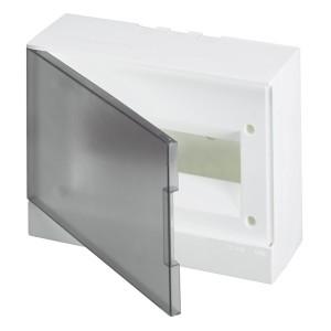 ABB Basic E Бокс настенный 12М серая прозрачная дверь (с клеммами) BEW402212