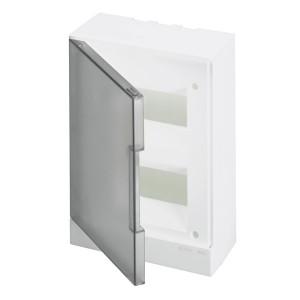 ABB Basic E Бокс настенный 16М серая прозрачная дверь (с клеммами) BEW402216