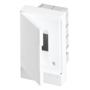 ABB Basic E Бокс в нишу 2М белая непрозрачная дверь (без клемм) BEF401202