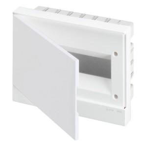 ABB Basic E Бокс в нишу 12М белая непрозрачная дверь (c клеммами) BEF401212