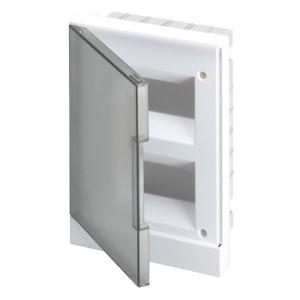 ABB Basic E Бокс в нишу 16М серая прозрачная дверь (c клеммами) BEF402216