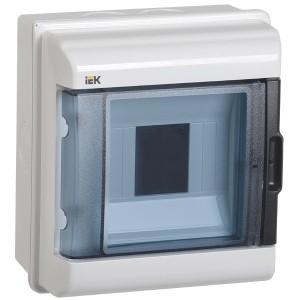 Бокс влагозащищенный КМПн-5 IP55 на 5 модулей навесной пластиковый с прозрачной дверкой ИЭК