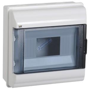 Бокс влагозащищенный КМПн-9 IP55 на 9 модулей навесной пластиковый с прозрачной дверкой ИЭК