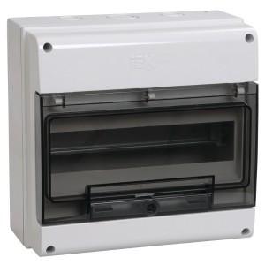 Щит влагозащищенный КМПн-12 IP66 на 12 модулей навесной пластиковый с прозрачной дверкой ИЭК