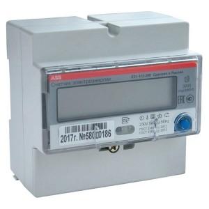 Электросчетчик ABB E31 412-200  5-80А 1-фазный, 4-тарифный, класс точности 1, RS-485