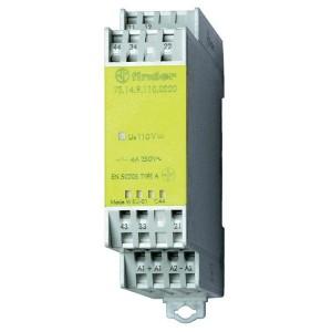 Модульное реле безопасности 2НО+2НЗ 24В DC на DIN-рейку