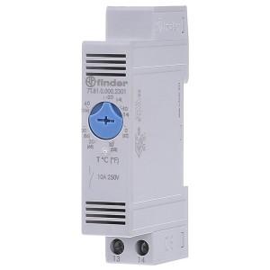 Модульный промышленный термостат NO контакт; диапазон температур (0 … +60) °C на DIN-рейку