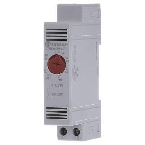 Модульный промышленный термостат NC контакт; диапазон температур (-20 … +40) °C на DIN-рейку