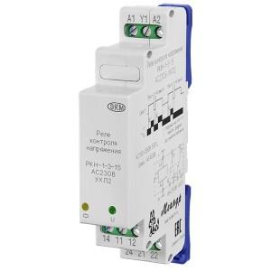 Однофазное реле контроля напряжения РКН-1-3-15 АС230В  УХЛ2