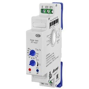Реле контроля тока РТ-40У УХЛ4 три диапазона контр. токов: 0,1-1А, 0,5-5А и 2,5-25А, задержка до 20с