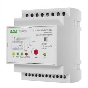 Реле контроля уровня жидкости PZ-830 16А, 3NO/NC, три контролируемых уровня
