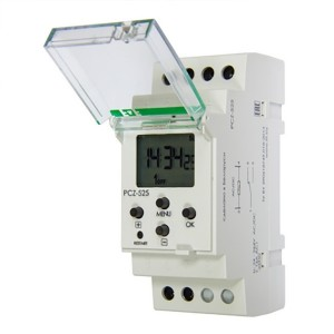 Реле времени астрономическое PCZ-525 24-264В AC/DC, 16А,функция ночного перерыва, 1NO/NC, NFC