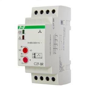 Реле контроля наличия, асимметрии фаз CZF-BR асимметрия 40-80В, задержка откл. 0,5-15с, 1NO, 1NС