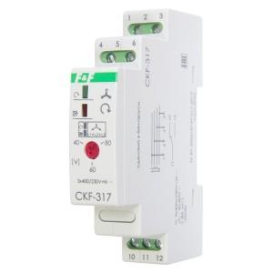 Реле контроля наличия/асимметрии/чередования фаз CKF-317 асим 40-80В, задерж. откл. 3-5с, 1NO/NC