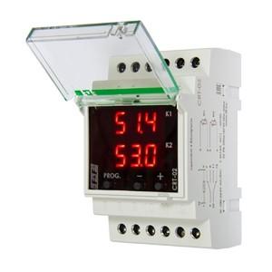 Регулятор температуры CRT-02 100-264В AC/DC, от -50 до +150 гр., 16А, гистерезис 0,5-25°С, 2NO/NC