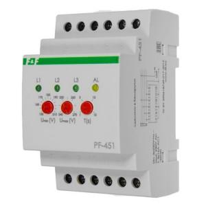 Переключатель фаз автоматический PF-451 16А, порог переключения: нижний 150-210В, верхний 230-260В
