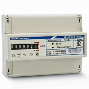 Счетчик трехфазный однотарифный ЦЭ6803В 1 230В 5-60А 3ф.4пр. М7 Р31 на DIN-рейку 8 модулей