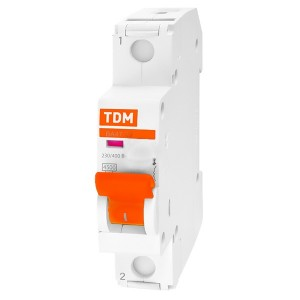 Автоматический выключатель ВА47-29 1Р 20А 4,5кА характеристика В TDM (автомат)