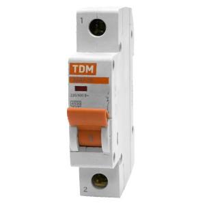 Автоматический выключатель ВА47-29 1Р 20А 4,5кА характеристика D TDM (автомат)