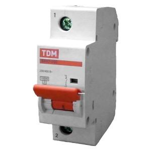 Автоматический выключатель ВА47-100 1Р 100А 10кА характеристика С TDM (автомат)
