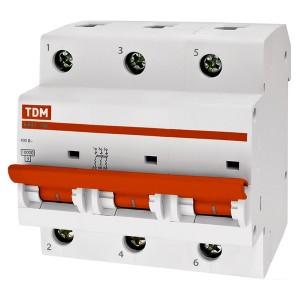 Автоматический выключатель ВА47-100 3Р 100А 10кА характеристика С TDM (автомат)