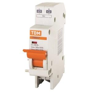 Расцепитель минимального и максимального напряжения РММ47 230В на DIN-рейку TDM