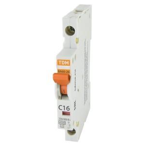 Автоматический выключатель ВА60-26-14 1Р 6А 4,5кА характеристика C 1/2 модуля TDM (автомат)