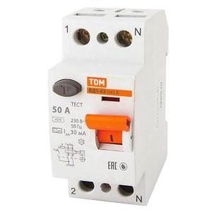 Устройство защитного отключения ВД1-63 2Р 50А 30мА тип А TDM
