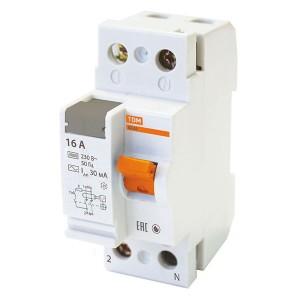 Устройство защитного отключения ВД63 2Р 16А 30мА (электронное) тип АС TDM