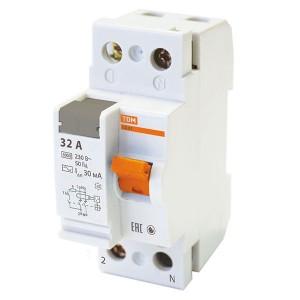 Устройство защитного отключения ВД63 2Р 32А 30мА (электронное) тип АС TDM