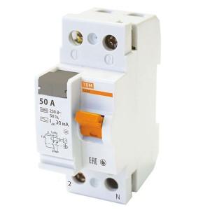 Устройство защитного отключения ВД63 2Р 50А 30мА (электронное) тип АС TDM