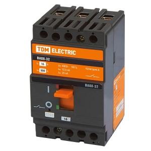 Автоматический выключатель ВА88-32 3Р 16А 25кА TDM (автомат)