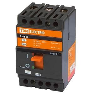 Автоматический выключатель ВА88-32 3Р 100А 25кА TDM (автомат)