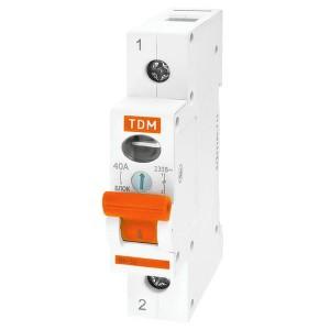 Выключатель нагрузки (мини-рубильник) ВН-32 1P 40A TDM