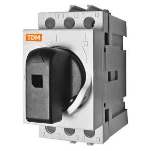 Рубильник модульный РМ-16 3П 16A TDM 2 модуля