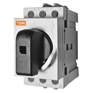 Рубильник модульный РМ-100 3П 100A TDM 3 модуля