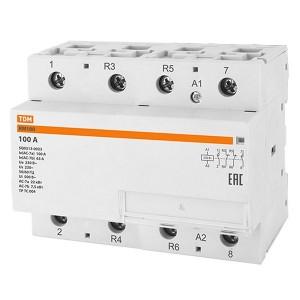 Контактор модульный КМ100/4-100 2НО;2НЗ TDM 6 модулей